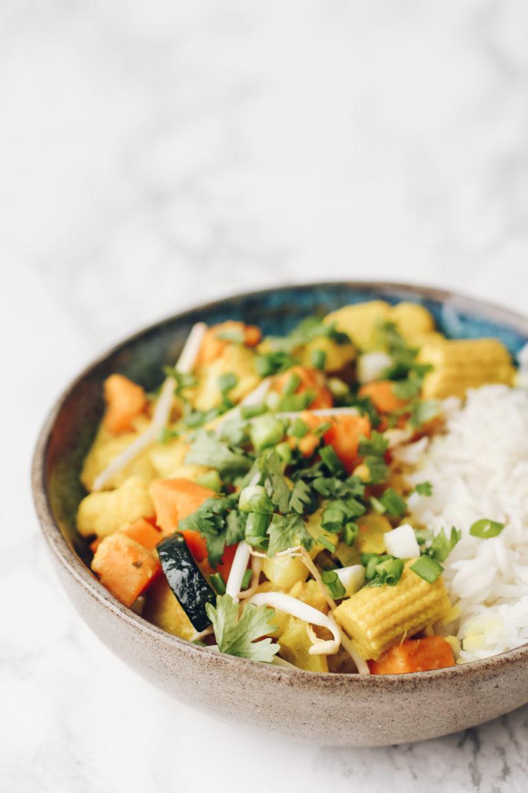 Tajskie curry z warzywami